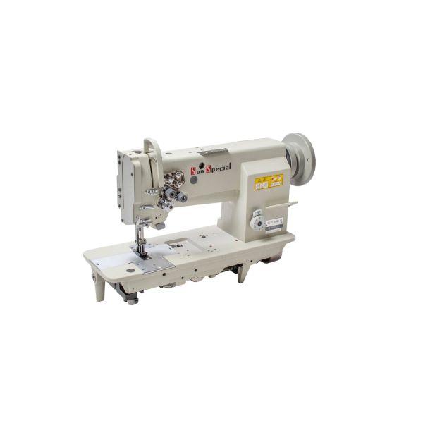 Máquina Costura Industrial Pespontadeira Eletrônica Transporte Triplo 02 Agulhas SSTC31606-D2 - Sun Special