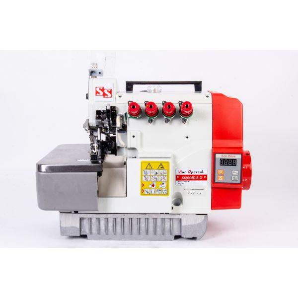 Máquina Costura Interlock Industrial com Control Box Acoplado 110v SS9905D-E-G  - Sun Special