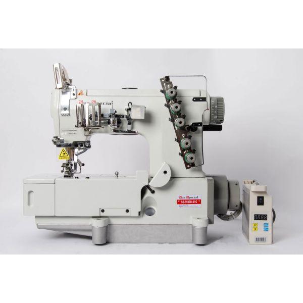 Máquina de Costura Industrial Galoneira Plana Fechada com Motor Direct Drive SS5500D-01 Sun Special
